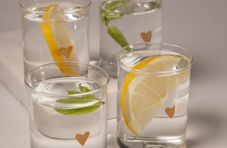 כוסות זכוכית דקות-סט של 4