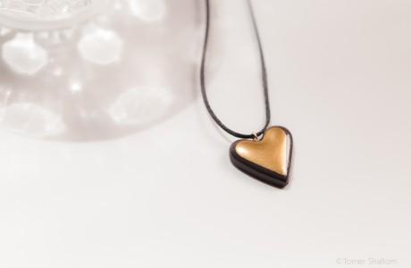 שרשרת לב זהב קלאסי
